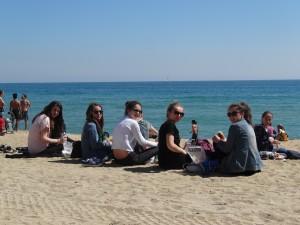 Déjeuner sur la Barceloneta