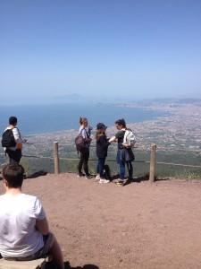 la baie de Naples, panorama depuis le Vésuve, mai 2016